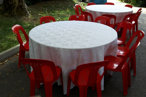 3ft To 6ft Round Table   Wooden Top With Metal Joint Legs ...