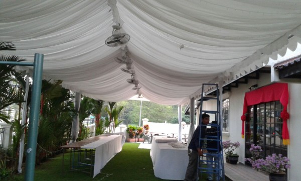 A-shaped Tentage with Deco Linings