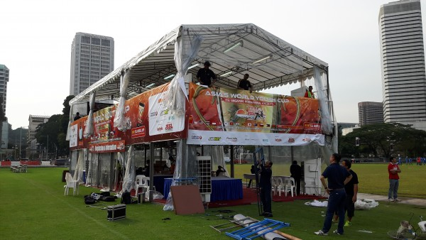 A-shaped Tentage_with 2 Storey Platform