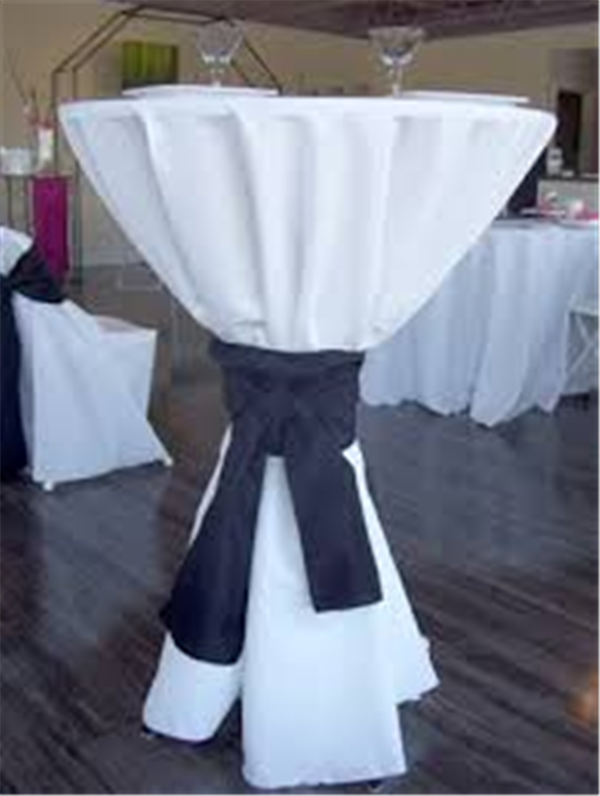 Cocktail Table with Cover and Simple Ribbon