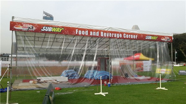 Slope Tentage Carpet Platform and Rain Curtain